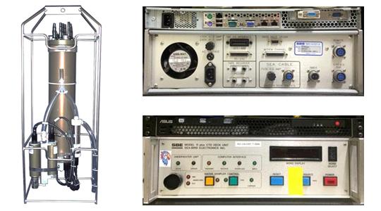 SBE9 CTD 장비 및 SBE11 데크 유닛